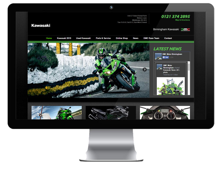 Responsive Web Design for Kawasaki Dealers